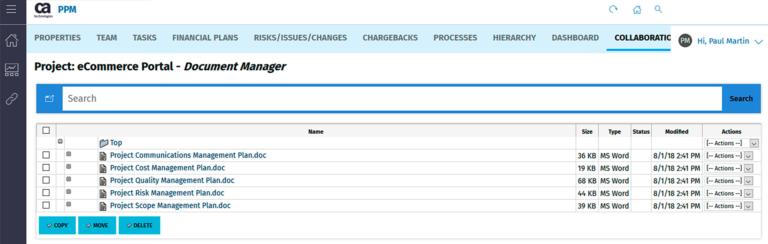Einfaches Bearbeiten, Speichern und Versionieren Ihrer Dokumente in Clarity PPM