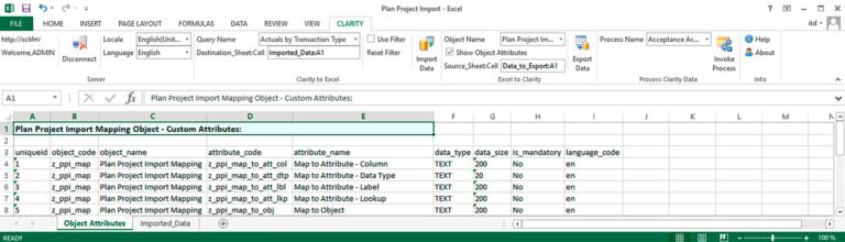 Daten-Export aus Clarity PPM nach Excel