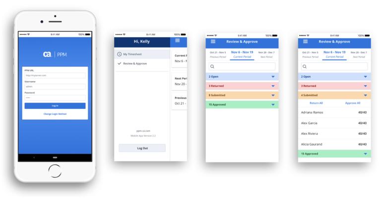 Clarity PPM: Schnelle Zeiterfassung auf Ihrem Smartphone